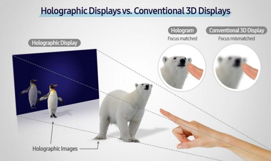 Samsung développe un écran vidéo holographique à panneau mince