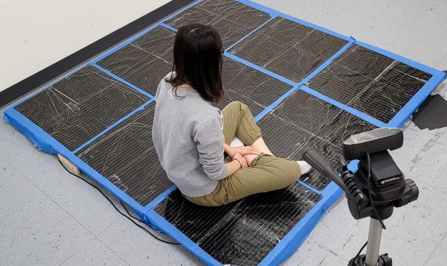 Le tapis intelligent donne un aperçu des poses humaines