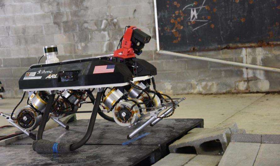La similitude des jambes, des roues et des pistes suggère une cible pour les robots économes en énergie