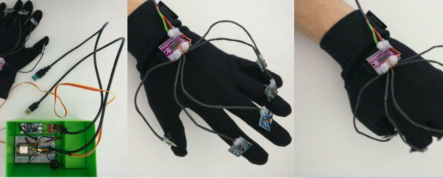 Un gant avec cinq capteurs inertiels pour la reconnaissance des gestes de la main