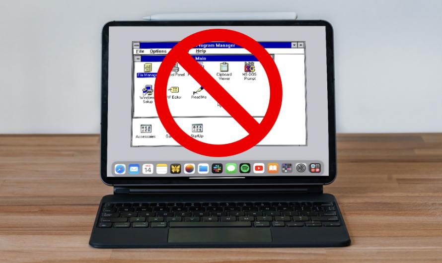 Hold up – l'application qui vous permet d'exécuter Windows 3.1 sur votre iPad est supprimée