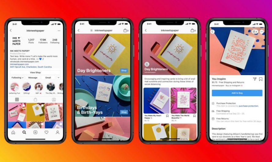 Instagram Shops teste les publicités pour la première fois