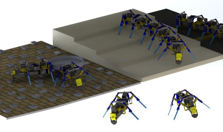 Des chercheurs ont réussi à construire des robots d'essaim à quatre pattes